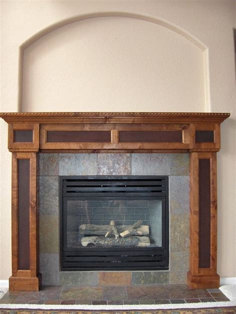 fireplace mantle slate surround home sweet home