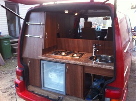 clever rear kitchen photos build thread minivan cer