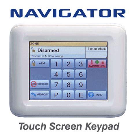 ness navigator touch screen keypad alarm shop