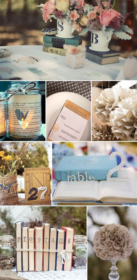 8 ways vintage books wedding decor book lovers