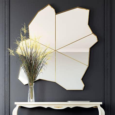 exclusive unique modern gold wall mirror