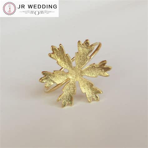 aliexpress buy 50pcs wholesale gold snowflake napkin ring