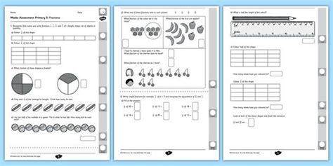 year 2 maths assessment fractions term 1 math