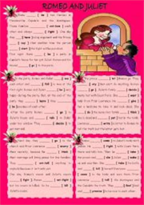 english teaching worksheets romeo juliet