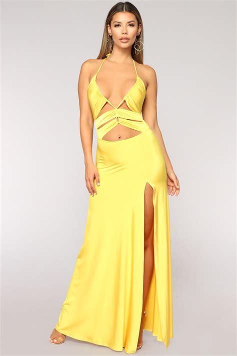 givin love dress yellow