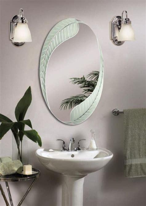 Cool Decorative Oval Mirrors Bathroom Decorating Ideas