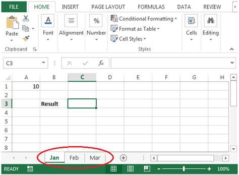 sum multiple sheets microsoft excel summing