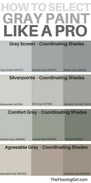 popular shades gray paint shades