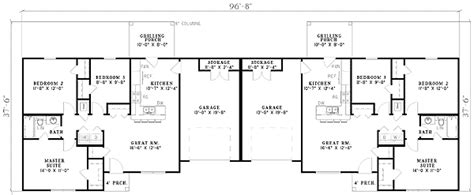 bedroom duplex 59624nd architectural designs house plans