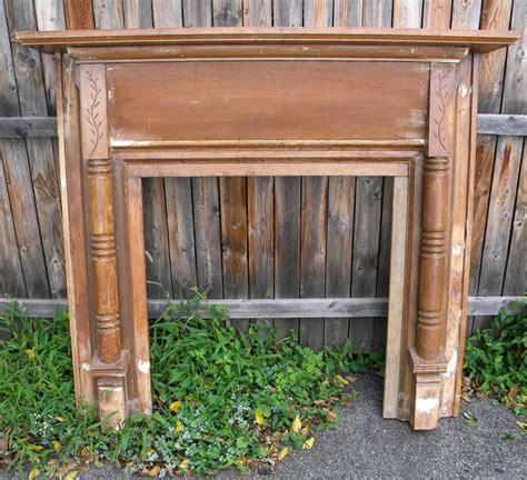 antique pine fireplace mantel