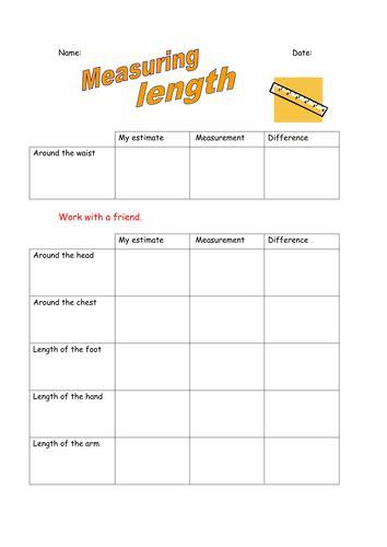 measuring length estimating length year 2 worksheets primarylion