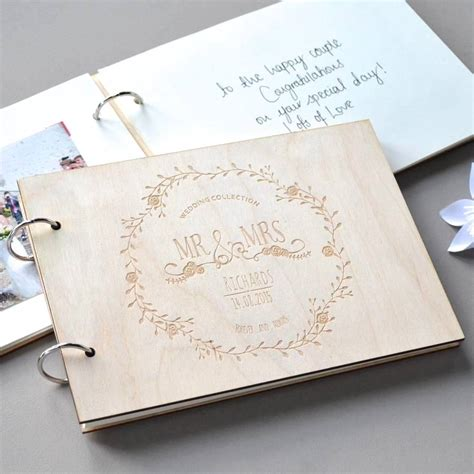 personalised vintage wedding guest book clouds currents notonthehighstreet