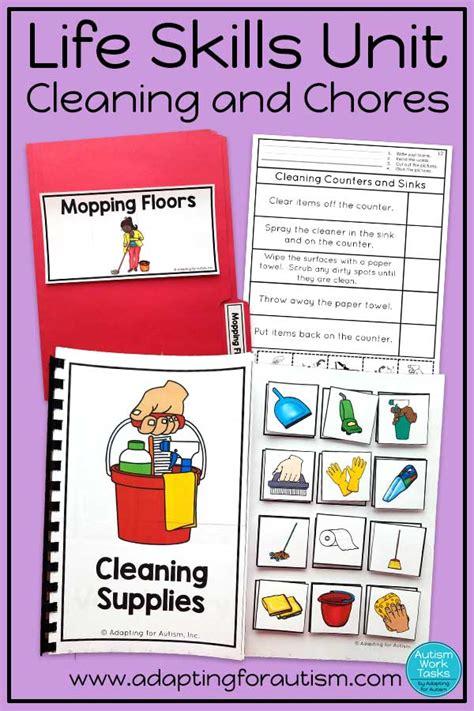 life skills activities teaching cleaning chores adapting autism