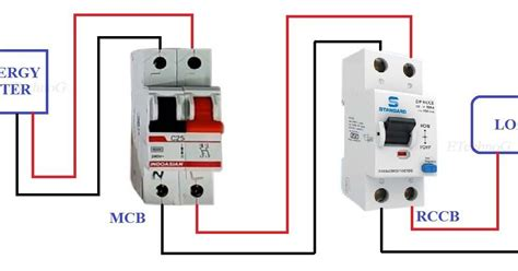 proper rccb connection diagram mcb images connection circuit