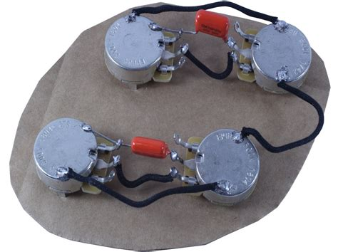 les paul style main cavity wiring harness 50s