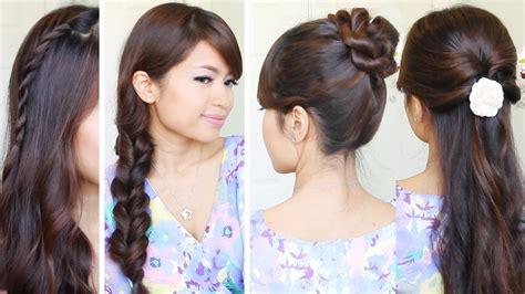 quick easy school hairstyles hair tutorial youtube