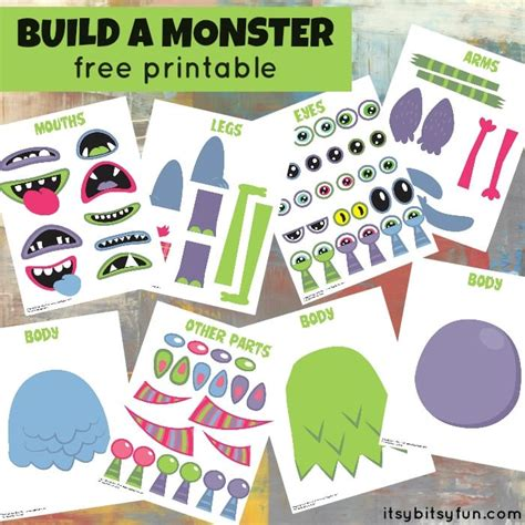 free printable build monster itsy bitsy fun