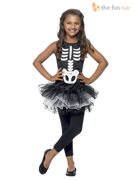 age 4 10 girls skeleton pumpkin tutu halloween