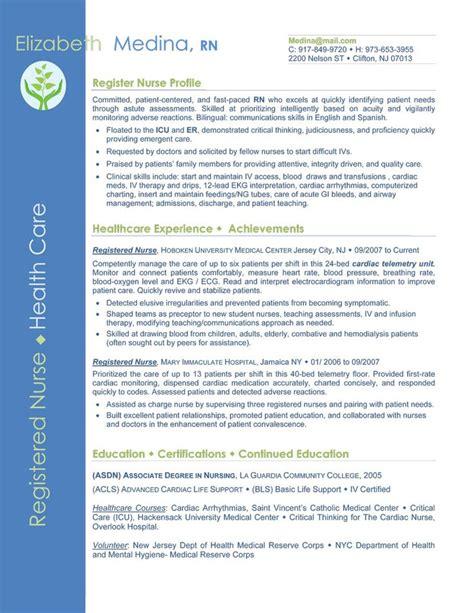 entry level nurse resume sle sle resumes