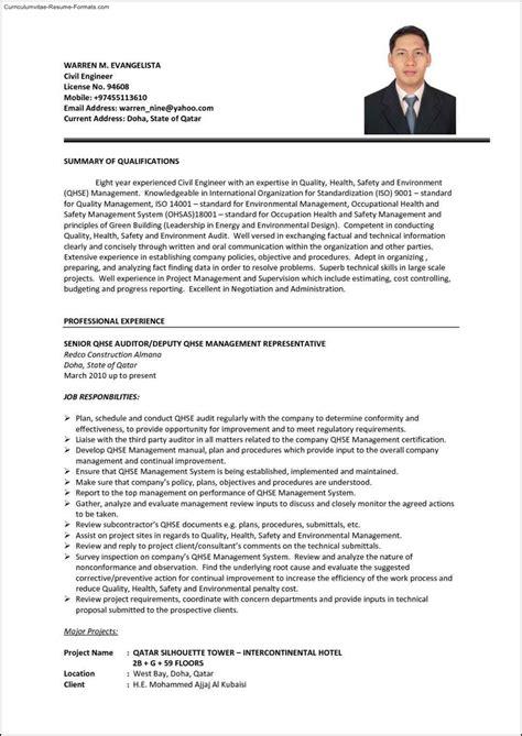 civil engineering resume template free sles exles format