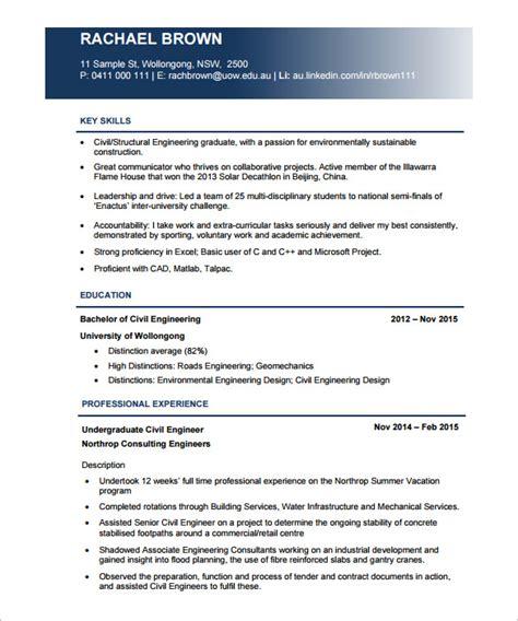 19 civil engineer resume templates doc free premium