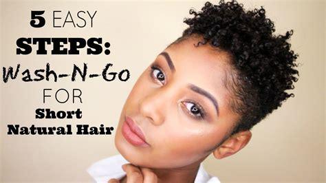 5 easy steps wash short natural hair youtube