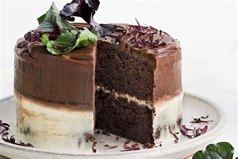 milk chocolate beetroot cake ombre icing recipes delicious