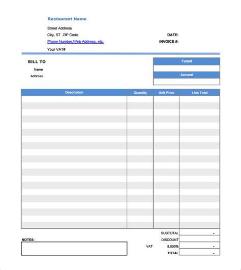 sle restaurant receipt template 12 free documents word