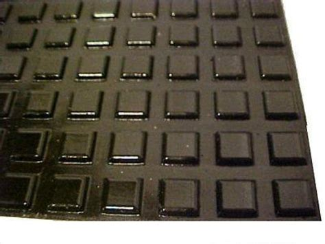 black adhesive square rubber bumper feet 1 2