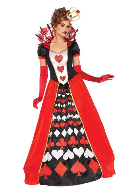 size deluxe queen hearts costume women