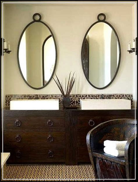 beautiful oval bathroom mirrors add visual interest home
