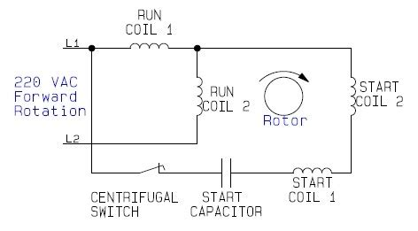 internal wiring configuration dual voltage dual rotation single