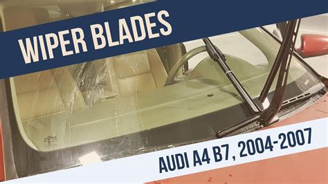 Audi A4 Wiper Blade Removal Replacement Youtube