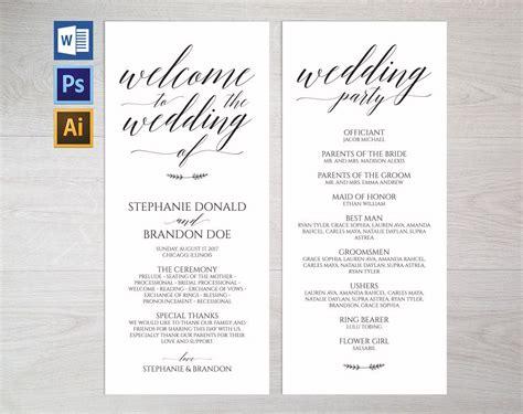 rustic wedding program template wpc1 invitation templates creative