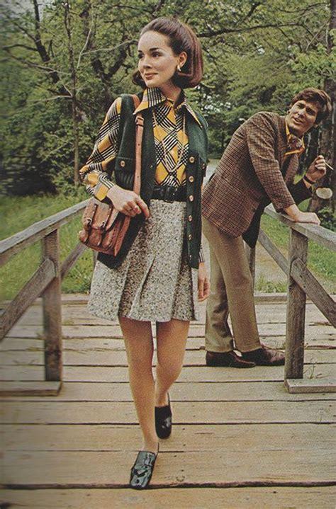fancydancynancy justseventeen september 1969 grey tweedwith green forest