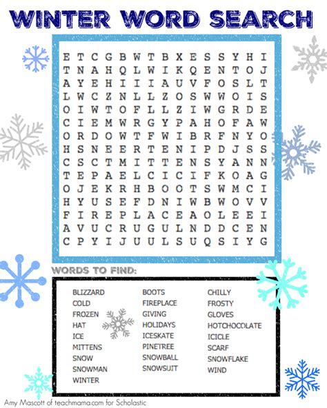 winter word search holiday word search holiday words