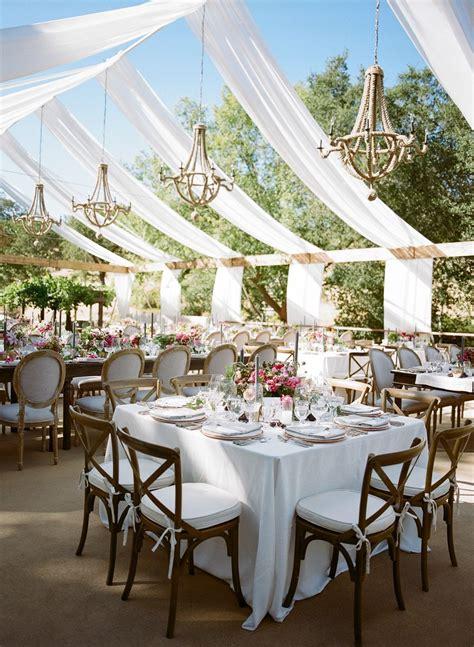 romantic berry pink sonoma wedding outdoor wedding reception