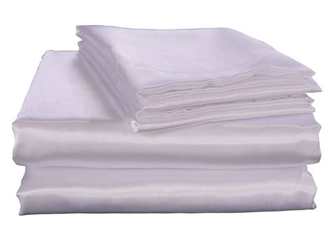 satin silky soft luxury bedding sheet pillowcase sets