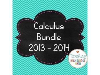 calculus bundle 2013 limits derivatives integrals math high