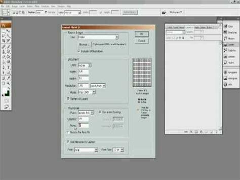 making contact sheet adobe photoshop cs3 youtube