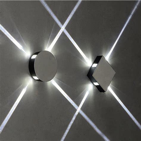 led cross light effect wall aisle balcony