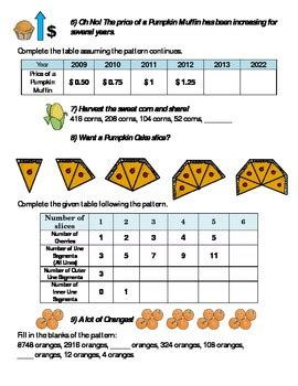 thanksgiving math pattern find term middle school high