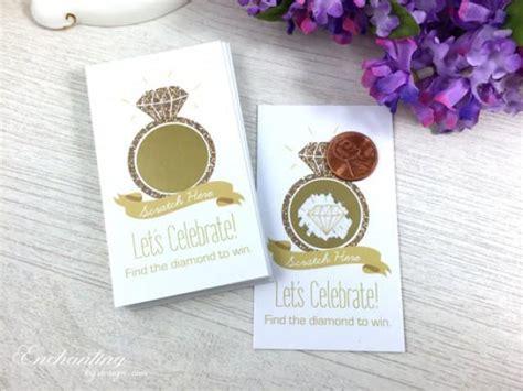 10 gold glitter scratch cards bridal shower game