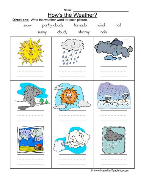 Types Of Weather Worksheets For Grade 2.html