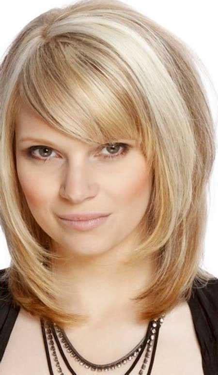 15 pics medium length hairstyles bangs layers hairstyles