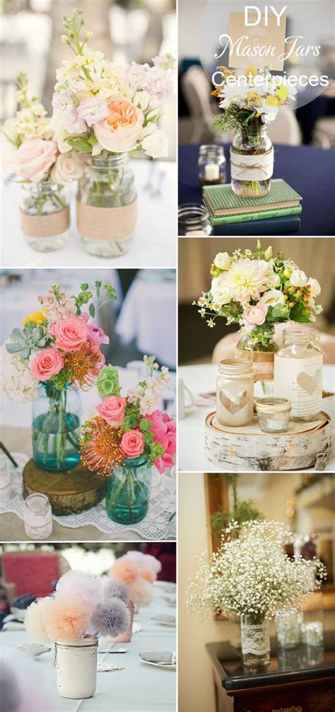 40 diy wedding centerpieces ideas reception diy rustic