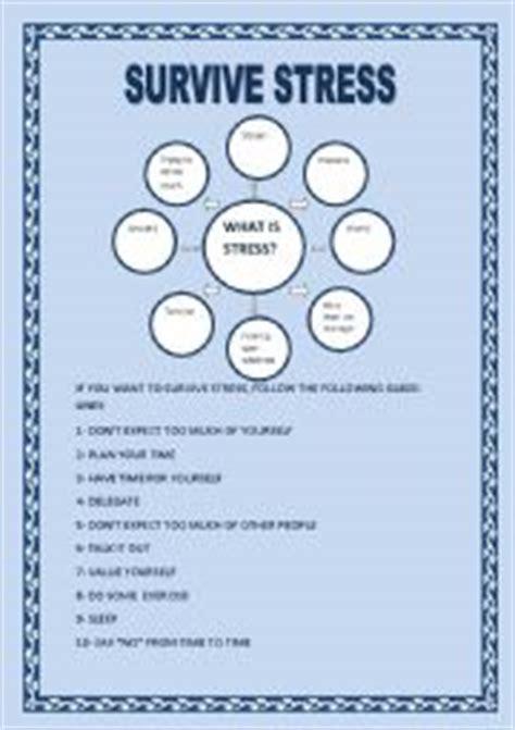 survive stress teachers students 4 pages yolanda esl
