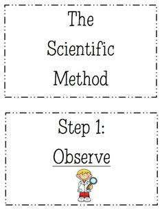 free scientific method printable worksheet kids learn pinterest