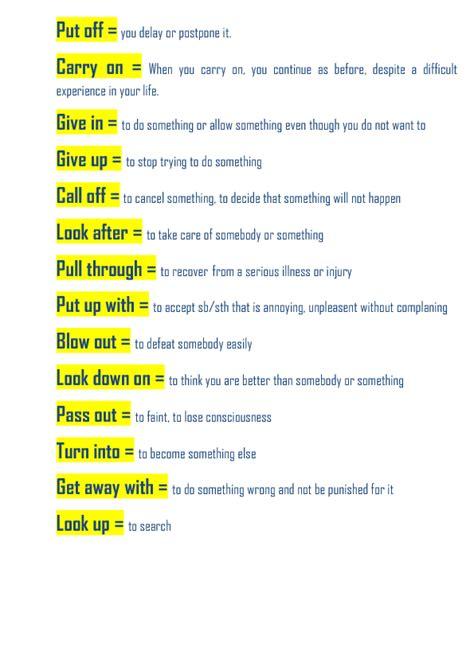 15 phrasal verbs worksheet