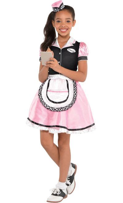 girls dinah girl waitress costume party city